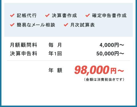 年額98,000円から